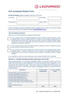 AVCs investment switch form