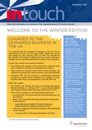 Leonardo InTouch newsletter - Winter 2016