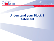 Understanding your Block 1 statement