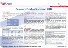 Summary Funding Statement 2012